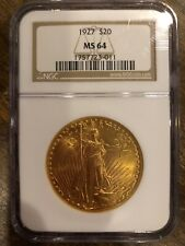 1927 $20 Gold Saint Gaudens Double Eagle Coin NGC MS 64