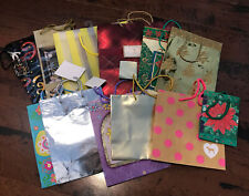 Lot Of 12 Preowned Gift Bags Assorted