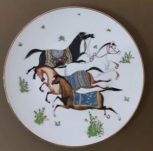 HERMES Cheval d'Orient  Porcelain Plate Tableware Horse Animal