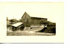 Large Barn-Work Shed-Rain Gutter-RPPC-Real Photo Postcard