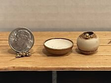 Vintage Artisan E CHAMBERS C ROBERTS Pottery Pieces Dollhouse Miniature 1:12