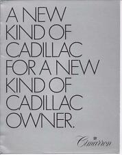 Cadillac - 1982 Cadillac Cimarron 8 Page Fold Out Pamphlet or Brochure