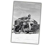 "War Photo American military motorcycle BSA M20 WW2 Glossy Size ""4 x 6"" inch T"