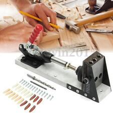 Pocket Hole Jig Portable Hole Jig Joinery System For Woodworking w/Drilling Bit