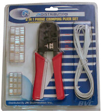 Phone Jack & RJ45 Cable Crimper -Pliers Crimp Network & Telephone Wire, 26 Piece