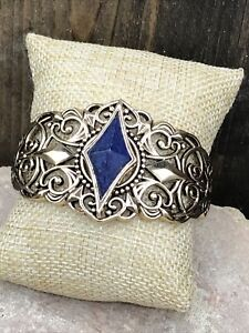 Barse Kappa Cuff Bracelet- Lapis - Bronze- New With Tags