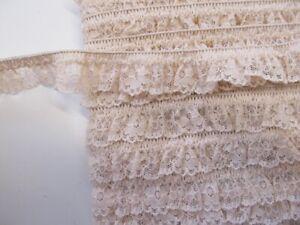 elastische Rüsche - 20 mm - beige