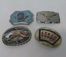 Of 4 Men's Buckles Vintage Belt Buckle Collection Lot