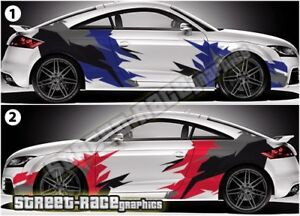 Audi TT PRINTED part-wrap 004 rally racing camouflage graphics stickers decals