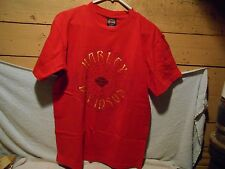 Harley Davidson  RED T-Shirt 2-sided LARGE MACKINAW CITY MI