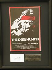 ROBERT DE NIRO IN THE FILM DEER HUNTER SIGNED  FRAMED MOUNT COA FREE P+P