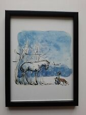 CHARLIE MACKESY FRAMED BOOK EXTRACT. 'THE BOY, THE MOLE, THE FOX AND THE HORSE'.