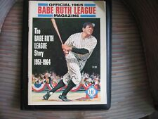 ORIGINAL OFFICIAL 1965 BABE RUTH LEAGUE MAGAZINE FIRST ISSUE THE BABE RUTH STORY