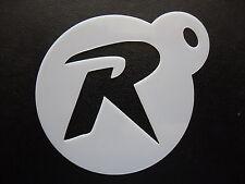 """LASER CUT PICCOLO ROBIN LETTERA """"R"""" design, biscotti, artigianato e Face Painting Stencil"""