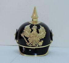 Black Prussian Helmet, Black German Pickelhaub WWI Helmet, WWII Helmet NEW vg1