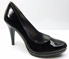 Nine West Rocha Black Patent High Heel Platform Pumps Shoes 8.5M 8.5 $89