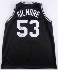Artis Gilmore Signed San Antonio Spurs Jersey With Inscription (Leaf COA)