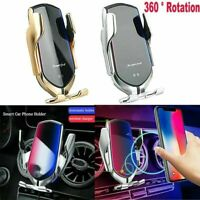 Automatic Qi Wireless Car Charger Mount Clamping Phone Holder For Mercedes Benz