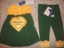 NCAA GEAR--OREGON DUCKS Girls 2PC  OUTFIT, YOUTH size 5T (B29)