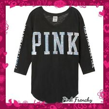 New VICTORIA'S SECRET Pink Bling boyfriend jersey Med oversized