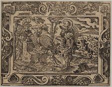 JOSUA Israel JUDEN Original Virgil SOLIS Ornament Holzschnitt um 1560 Kanaan