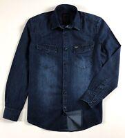 G-Star Raw Denim Shirt Men's Slim Fit Dark Indigo Long Sleeve