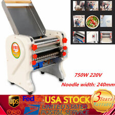 220V Electric Pasta Maker Dough Roller Noodle Machine Commercial Stainless Steel