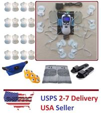TENS Unit Tens Massager Digital Therapy Acupuncture Machine Dual outputs A V
