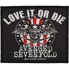 AVENGED SEVENFOLD - Love It Or Die - Aufnäher / Patch - Neu #1345