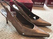 Renata Gold Court Shoe 38 *BNIB* RRP£195