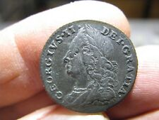 1758 George II Silver Shilling , Roses and Plumes