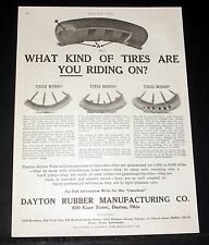 1913 OLD MAGAZINE PRINT AD, DAYTON RUBBER, WHAT KIND OF TIRES ARE YOU RIDING ON!