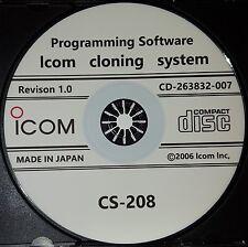 Icom CS-208 Programming Software for Icom IC-208