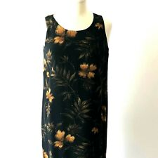 JONES NEW YORK WOMEN'S 2 PC DRESS & SHIRT SIZE 8 100% SILK BLACK & GOLD MAXI EUC
