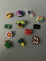 Ocean Beach Lot Of 10 + 2 Lace Adapters,Shoe & Bracelet Charms Island,sum & More