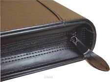 New, Zippered, Padfolio Organizer, 6 Card Slots, Jr Legal Pad, Black