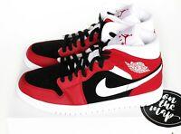 Nike Air Jordan 1 Retro Mid W Gym Red White Black Bred UK 5 8 9 10 11 12 US New