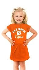 CLEMSON TIGERS - NCAA Baby Girl's Short Sleeve Dress - ORANGE - 0-3 Months