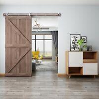 Modern Stainless Steel Interior Sliding Barn Wood Door Hardware Track Set
