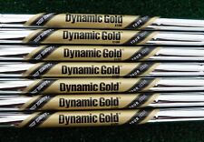 "NEW 4-PW TRUE TEMPER TOUR ISSUE DYNAMIC GOLD X100 .355"" TAPER TIP IRON SHAFTS"