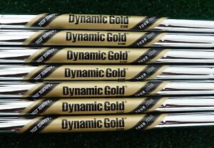 """NEW 4-PW TRUE TEMPER TOUR ISSUE DYNAMIC GOLD X100 .355"""" TAPER TIP IRON SHAFTS"""