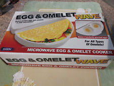 Egg & Omelet Wave Microwave Cooker Poached Eggs Just add filling -As Seen On TV