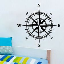 Boat Compass Vinyl Decal Sticker Room Window Wall Nautical Sailing Anchor Ship