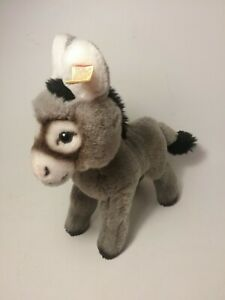 Steiff Western Germany Vintage Cosy Grissy Plush Donkey 5472/20 EUC Ear Button