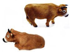 Ochse Felltiere Naturmaterial Felltier Krippenfigur Kuh Krippentier Tierminiatur