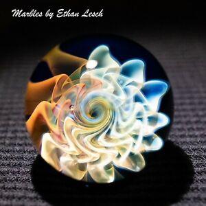"1.37"" HANDMADE MARBLE BY ~ETHAN LESCH~ BOROSILICATE, BORO, ART,"