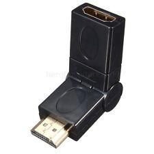 360 degree Flexible Swivel HDMI Male to HDMI Female Adapter Converter 1080p HD