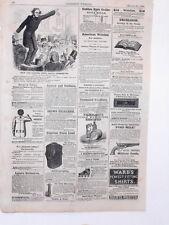Harper's Weekly Page Civil War Bowery Boys Cartoon Bullet Proof Vest Ad 1863