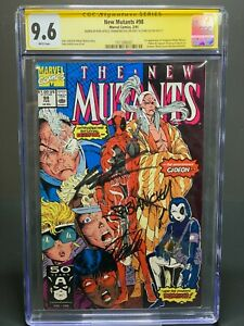 New Mutants 98 CGC 9.6 1st App Deadpool Signed 3x By Stan Lee & Rob Liefeld