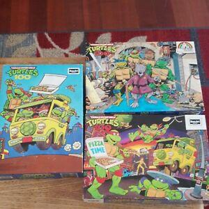 Lot of 3 Vintage Teenage Mutant Ninja Turtles Puzzles Rose Art TMNT puzzles